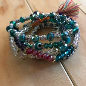 boho bracelet bundle of 5